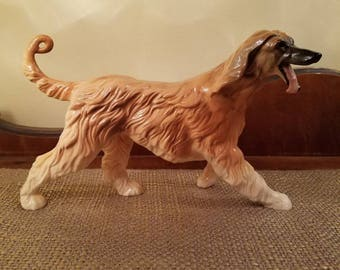 "Beswick Afghan Hound Figure 8.5"" Long, Vintage Dog Collectible Dog"