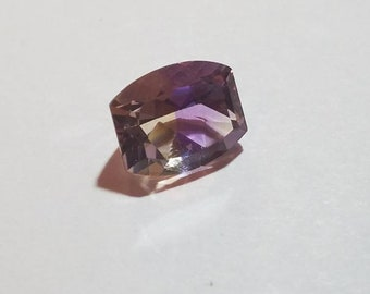Modified Cushion Cut Ametrine Loose Gemstone, 11x9mm 3.83ct, Bi Color Amethyst