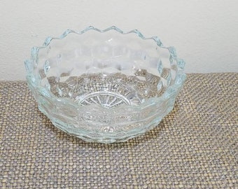 """Vintage Colony Whitehall Glass Bowl 5 1/2"""", Round Candy Cubist Dish"""