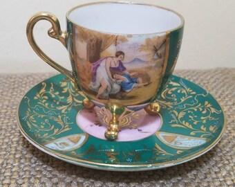 "Lenwile China Demi tasse Teacup 2 1/2"" Tall, Ardalt, Japan #6498"