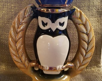 """REDUCED!!! Vintage Jim Beam Royal Owl Decanter -LVNH 1982 - 10 3/4"""" Tall -Vintage Whiskey Bottle -Collectible Decanter -Collectible Jim Beam"""