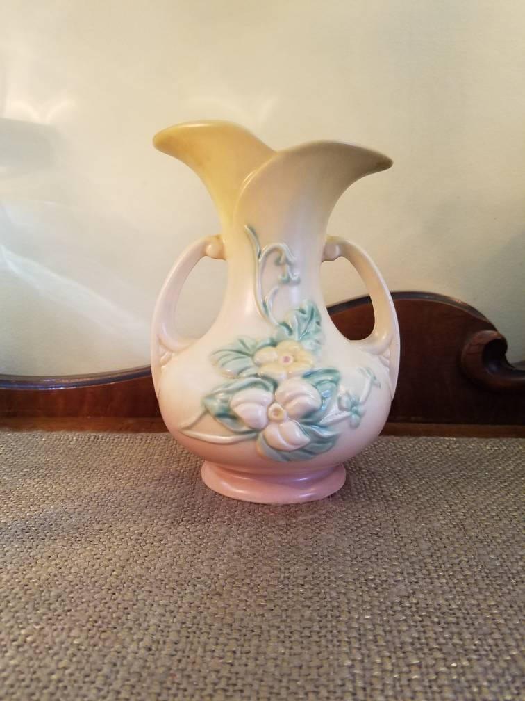 Vintage Hull Art Ceramics Vase 7 12 Tall Vintage Mauve Pale