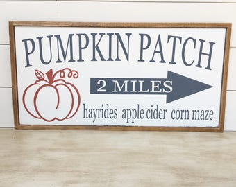 Pumpkin Patch Sign - Fall Decor - Fall Signs - Autumn Decor - Farmhouse Fall Decor - Thanksgiving Decor - Pumpkin Decor - Ready To Ship