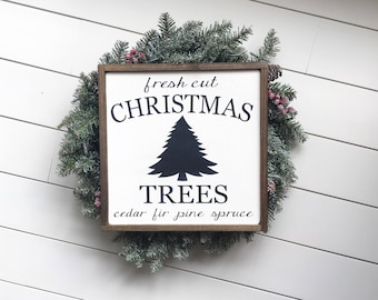 Christmas Tree Sign - Farmhouse Christmas Decor - Rustic Christmas - Christmas Signs - Holiday Decor - Fixerupper Decor - Christmas Mantle