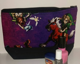 Legend of Zelda Cosmetic Bag, Majora's Mask Cosmetic Bag, Legend of Zelda-Majora's Mask Makeup Bag