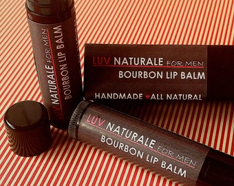 Bourbon Lip Balm for Men by Luv Naturale (LUXE)