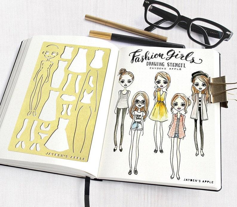 Bullet Journal Stencil Wardrobe Planner Stencils Fashion image 0