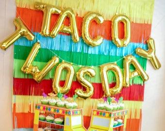 Taco Twosday Letter Balloons