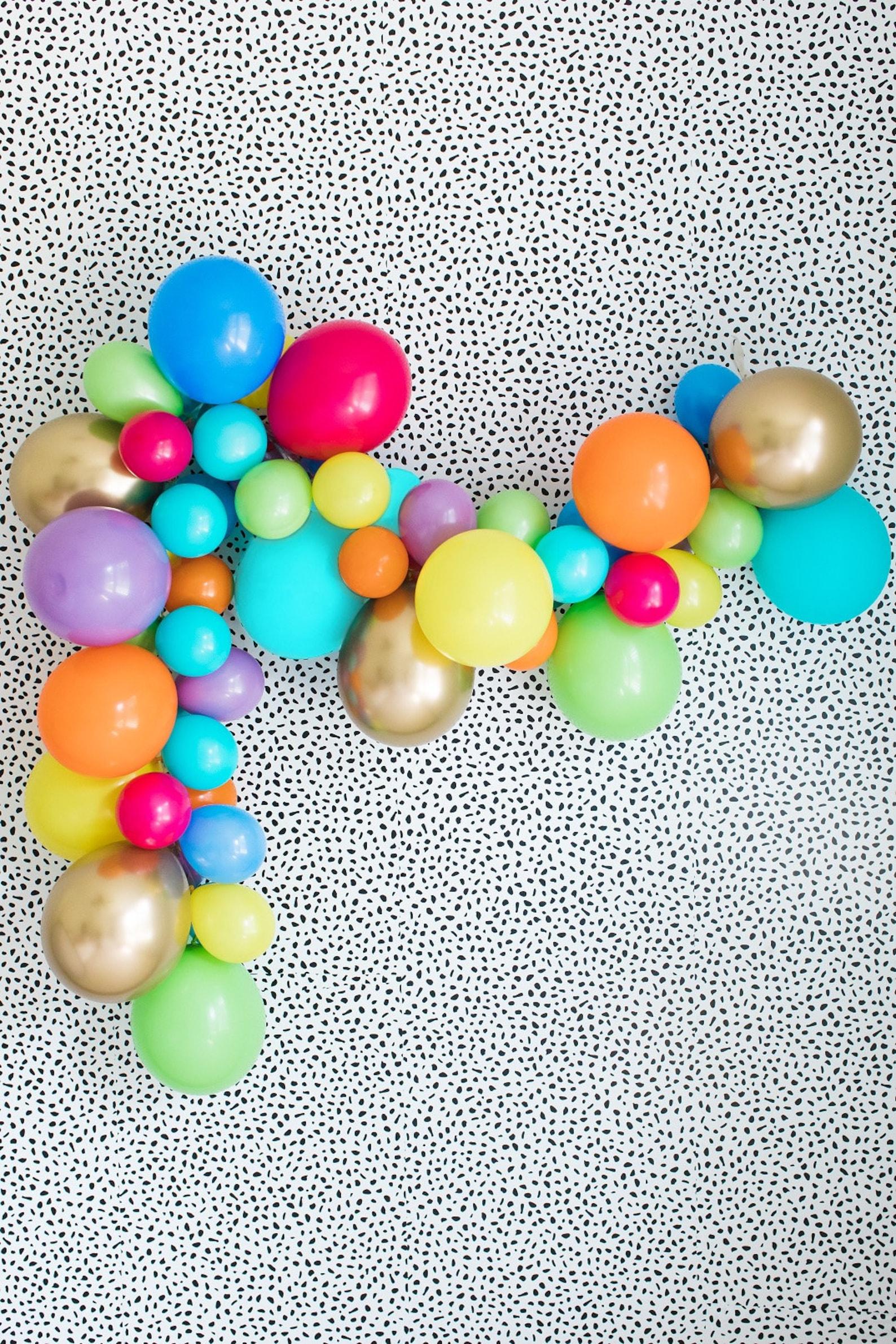 Rainbow Circus Balloon Arches