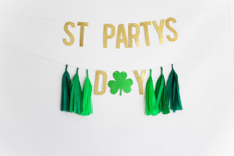 Funny St Patrick/'s Day Banner St Patrick/'s Day Party Decor St Patty/'s Day Garland St Patrick/'s Day Banner St Partys Day Banner