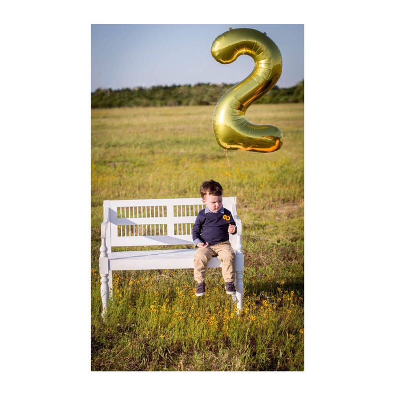 Two Balloon 34 Number 2 Gold Rose Gold Silver Mylar Balloon Second Birthday Decor Second Birthday Photo Prop 2 Number 2 Balloon