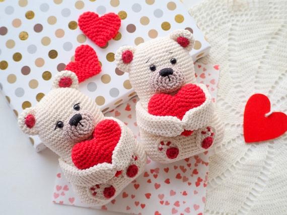 Valentine's Teddy Bear Pattern PDF English