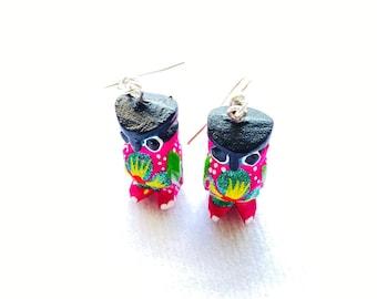 Oaxaca Mexico. Sterling Silver Alebrije Beetle Earrings