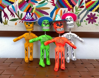 Mexican skeleton paper mache, Mexican folk art, day of the dead art