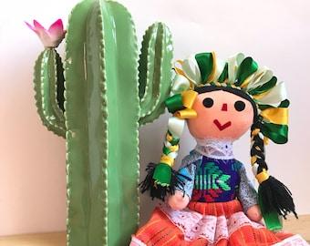 Mexican doll, Rag doll, Handmade doll, Cloth doll, Art doll, Authentic mexican doll