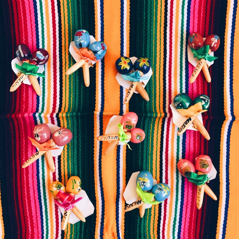Mexican party favors Mini maracas Fiesta favors Mexican favors Mexican maracas Wedding maracas Maracas SET OF 10