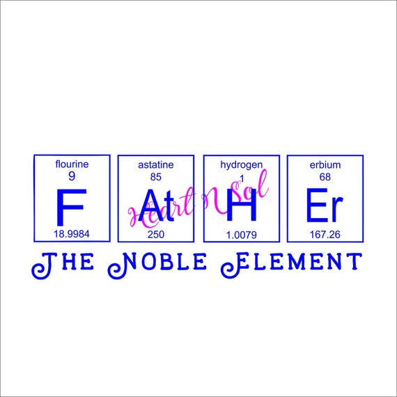 Father element fathers day noble element periodic table etsy image 0 urtaz Image collections