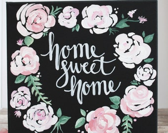 Home Sweet Home Canvas   Home Sweet Home   Home Decor   Home Sweet Home Sign   Home Gift   Wall Decor   Home Sign   Decor Wall Art   Quote