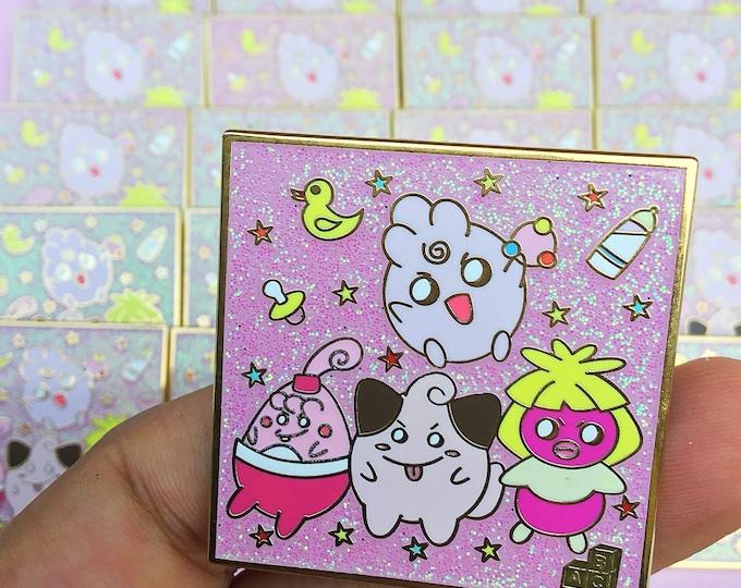 Bad baby pokemon enamel pin
