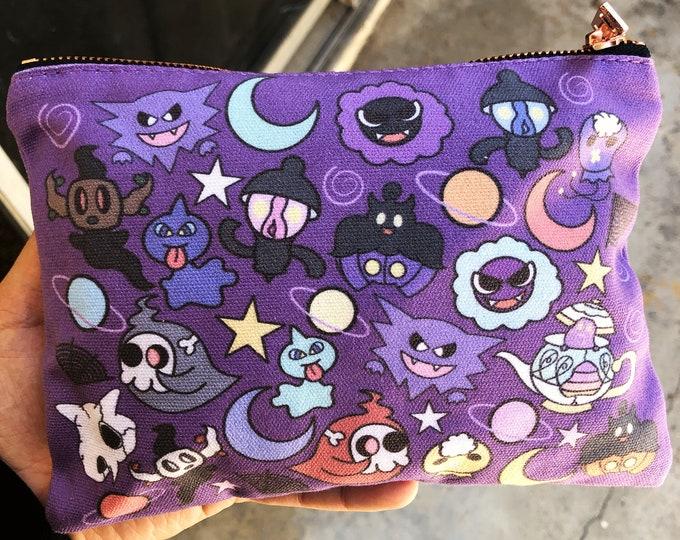 Pokémon ghost zipper pouch