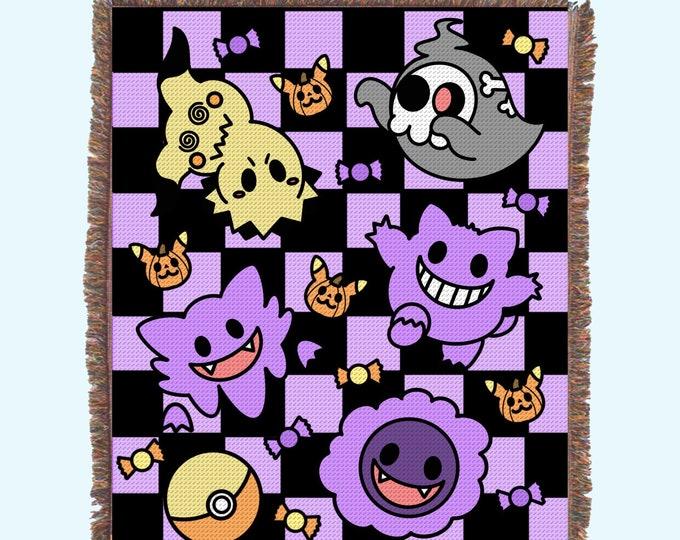 Ghost Halloween Woven Blanket Preorder