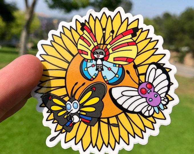 Pokemon Butterflies Vinyl Sticker