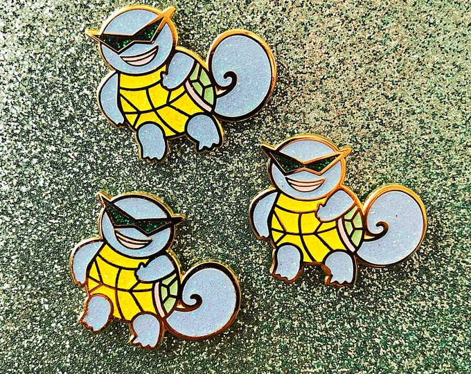 Shiny Squirtle Squad Enamel Pin