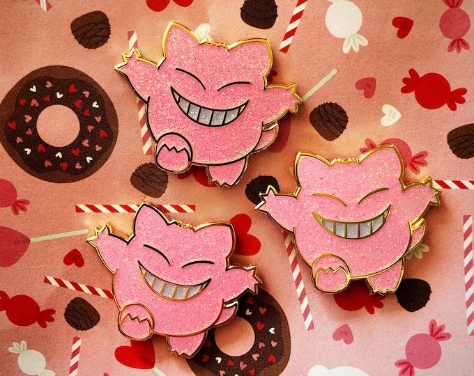 Ghosty Enamel Pin Pink