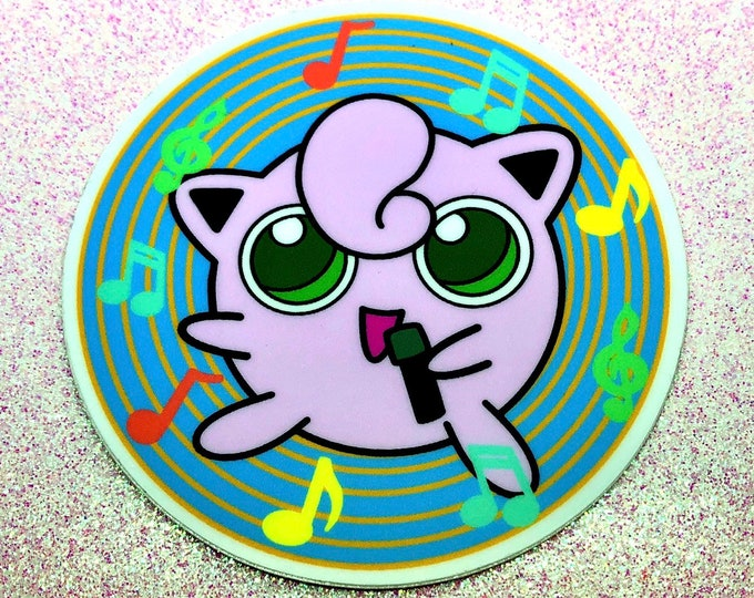 Jigglypuff used Sing! Vinyl sticker
