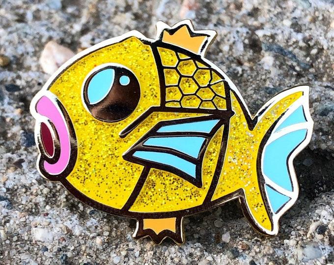 Shiny Magikarp Glitter Ename Pin