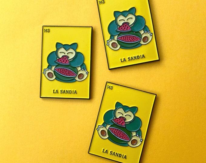 Loteria Snorlax Enamel Pin