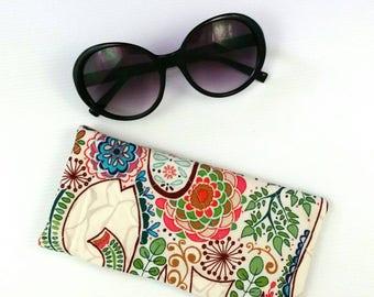 Sunglasses pouch, sunglasses case boho glasses case sunglasses storage glasses case quilted glasses case boho handbag accessories cute gift