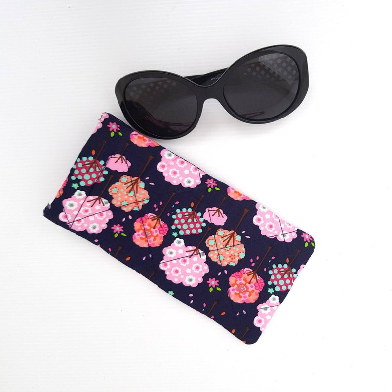 961be02b7f64 Tree print sunglasses case pink tree glasses pouch eyeglasses | Etsy
