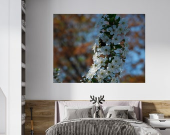 Photo print of Quebec on vinyl finished fine texture of canvas self-adhesive different format - photo by Vanessa B.