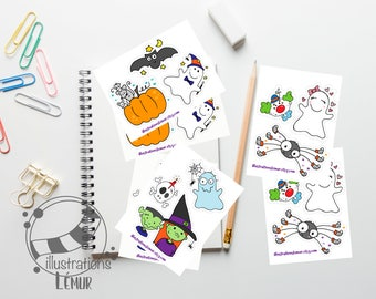 7682e407061 Small reusable stickers for Halloween
