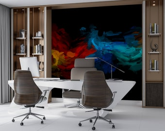 Splash multicolored Adhesive tapestry fine canvas texture, Top quality painted ecological ink