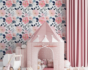 Floral tapestry Rosie Rose adhesive fine canvas texture, Top quality wallpaper printed ecological ink