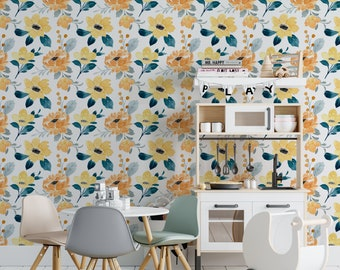 Floral tapestry sunshine adhesive fine canvas texture, Top quality wallpaper printed ecological ink