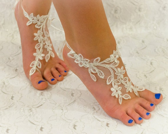 968a7ab18 Barefoot sandles Any color Lace barefoot sandals beach