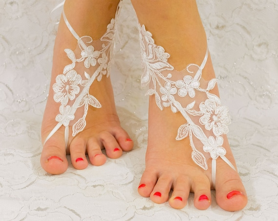 Beach wedding barefoot sandals, Coupon Code Free Shipping, barefoot sandles, wedding barefoot sandals lace barefoot sandals