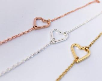 2 x soft strap ROSÉ GOLD heart: Girlfriend