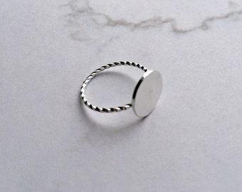 Dot ring SILVER Minimalist rings, matt