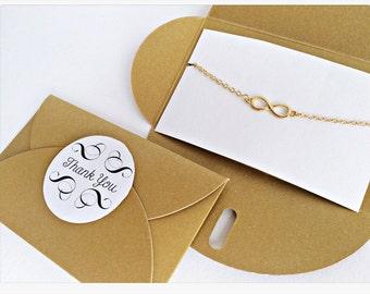 Infinity bracelet GOLD // GOLDEN packaging