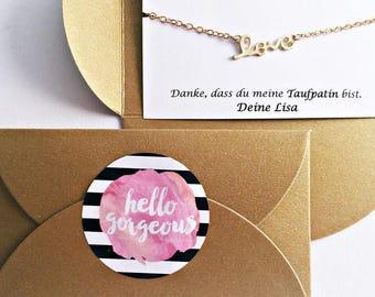 2x Godmother's gift // GOLD bracelet // Favorite person