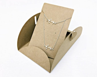 Kraft Gift wrapping: Necklace and bracelet anchor