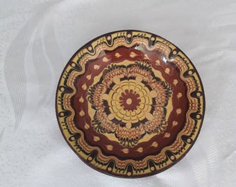 Bulgarian Pottery, Ceramic Serving Plate, Bulgarian Plate, Handmade Clay Plate, Stoneware Pottery Plate, Ceramic Decorate Plate,Rustic Plate