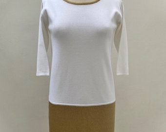 White and gold knitted shift dress