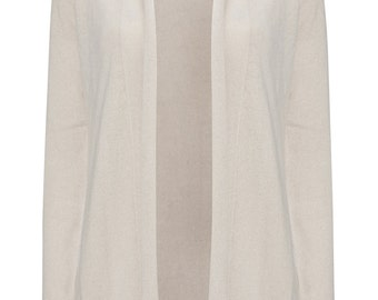 Cream Cashmere open cardigan