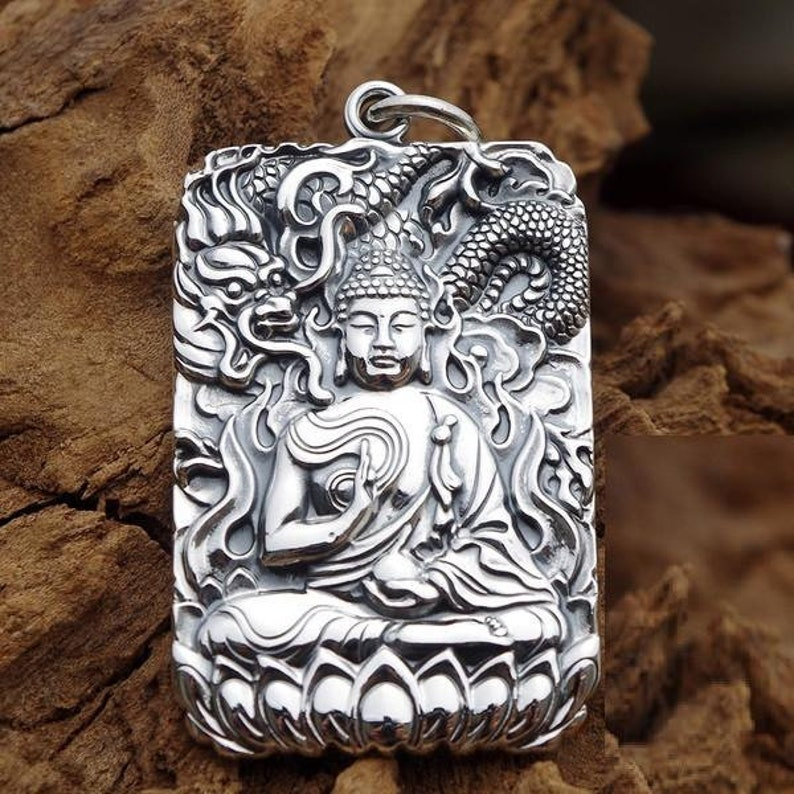 Chinese Zodiac Sign Pendant, Protective Amulet (Pure Silver 999/1000),  Buddhist pendant, Buddha pendant, Zodiacal pendent, protection