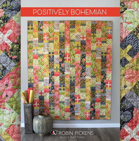 Quilt Pattern Downloadable Digital Pdf Of Positively Etsy